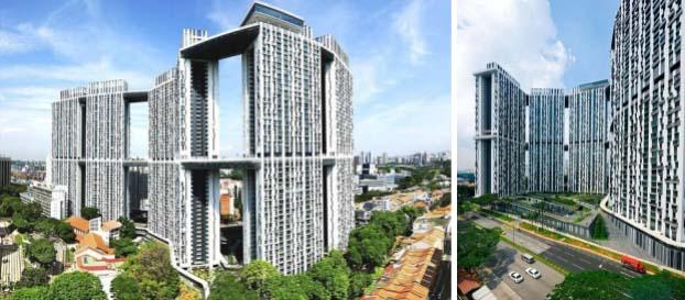 Khu nhà ở The Pinnacle, một ví dụ về nhà ở xã hội chất lượng cao ở Singapore