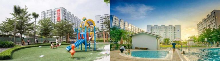 Không gian sân chơi và dịch vụ tiện ích khu ĐTM giá vừa túi tiền Ehome 3 Nam Long (TPHCM)