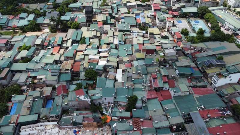 Hàng nghìn ngôi nhà được xây trên đất nông nghiệp tại khu vực bãi sông.