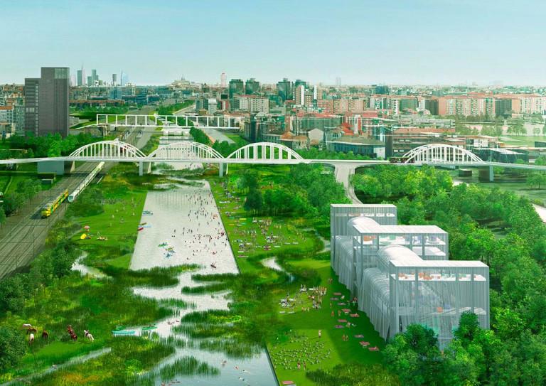 """Biến hai nhà ga đường sắt thành """"bộ lọc sinh thái"""" ở Milan."""