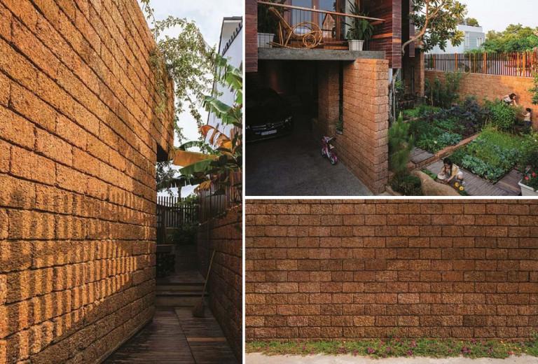 Ngôi nhà sử dụng đá ong làm vật liệu mang nét đẹp cổ kính, đậm chất Việt nhưng không kém phần hiện đại, sang trọng.