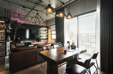 Trần bê tông thô là đặc trưng của phong cách công nghiệp. Ảnh: Luu Quang Minh Photography/ Angelo Design.