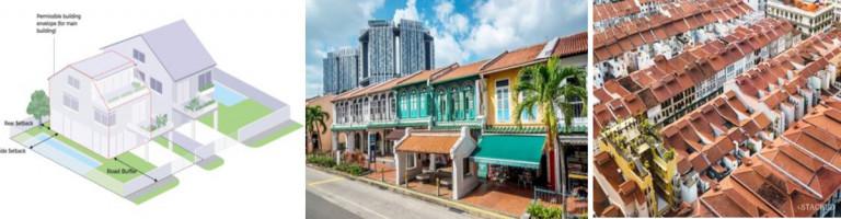 Hiện trạng kiến trúc nhà ở thấp tầng trong đô thị được cải tạo đồng bộ và sơ đồ hướng dẫn quản lý cải tạo kiến trúc nhà ở hiện hữu đạt chuẩn tại Singapore