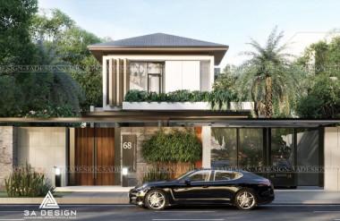 Villa được xây dựng đầy tinh tế với những mảng xanh đan xen nhau như một resort thu nhỏ mang đậm chất tropical