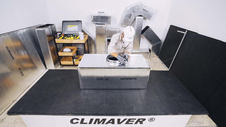 Ống gió HVAC Climaver được thi công ngay tại công trình nhờ vật liệu nhẹ và linh hoạt