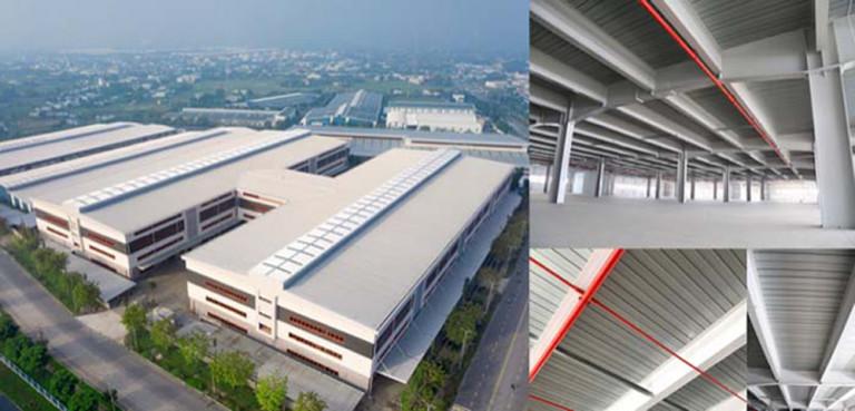 Khu nhà xưởng có tầng KIZUNA - Ready Service Space ứng dụng tấm sàn thép liên hợp thế hệ mới Lysaght® Bondek® II.