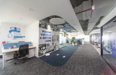 Không gian chung với thiết kế mở, tăng sự kết nối, tương tác giữa các nhân viên tại không gian làm việc