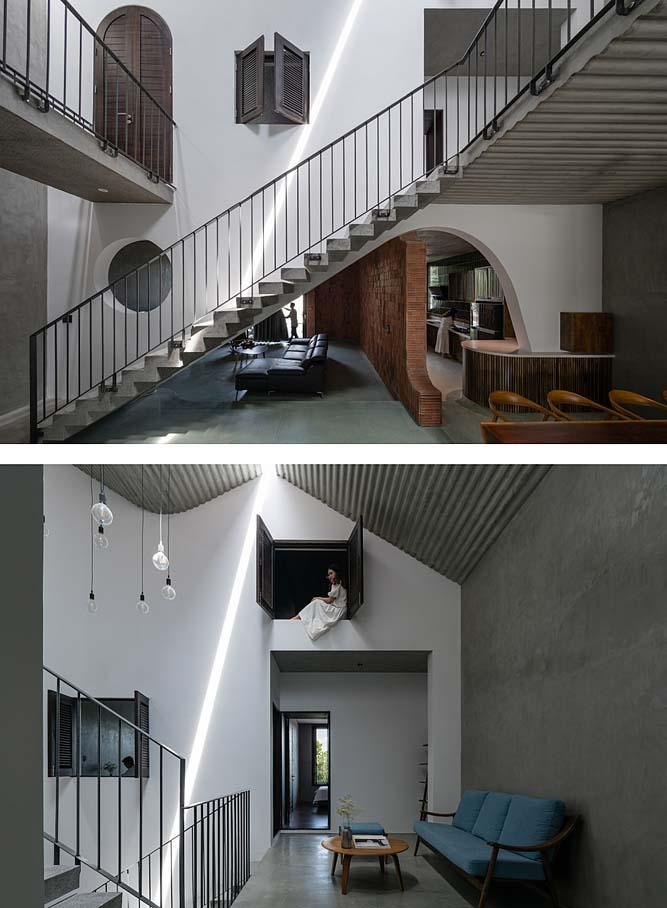Không gian bên trong nhà. Ảnh: Quang Dam.
