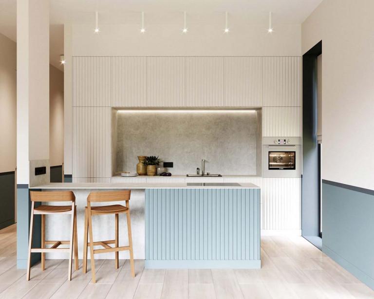 Color Block là phong cách thiết kế kết hợp 2 hay nhiều khối màu dạng hình học. Ảnh: Home-designing