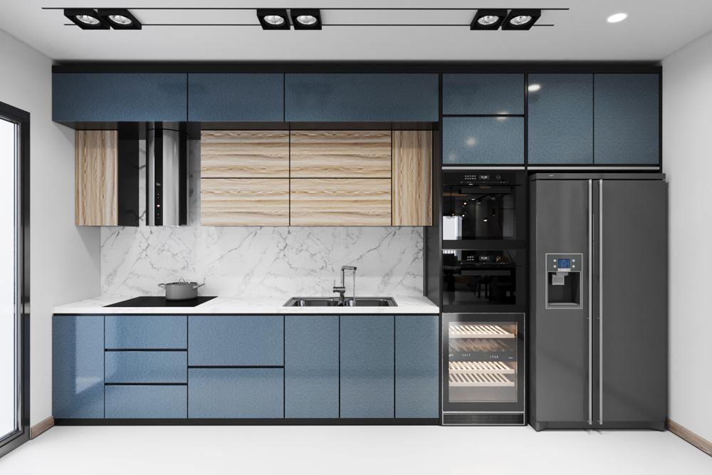 Tủ bếp Ecoplast Luxury gạt bỏ lỗi no ẩm mốc ở khu vực ẩm ướt.