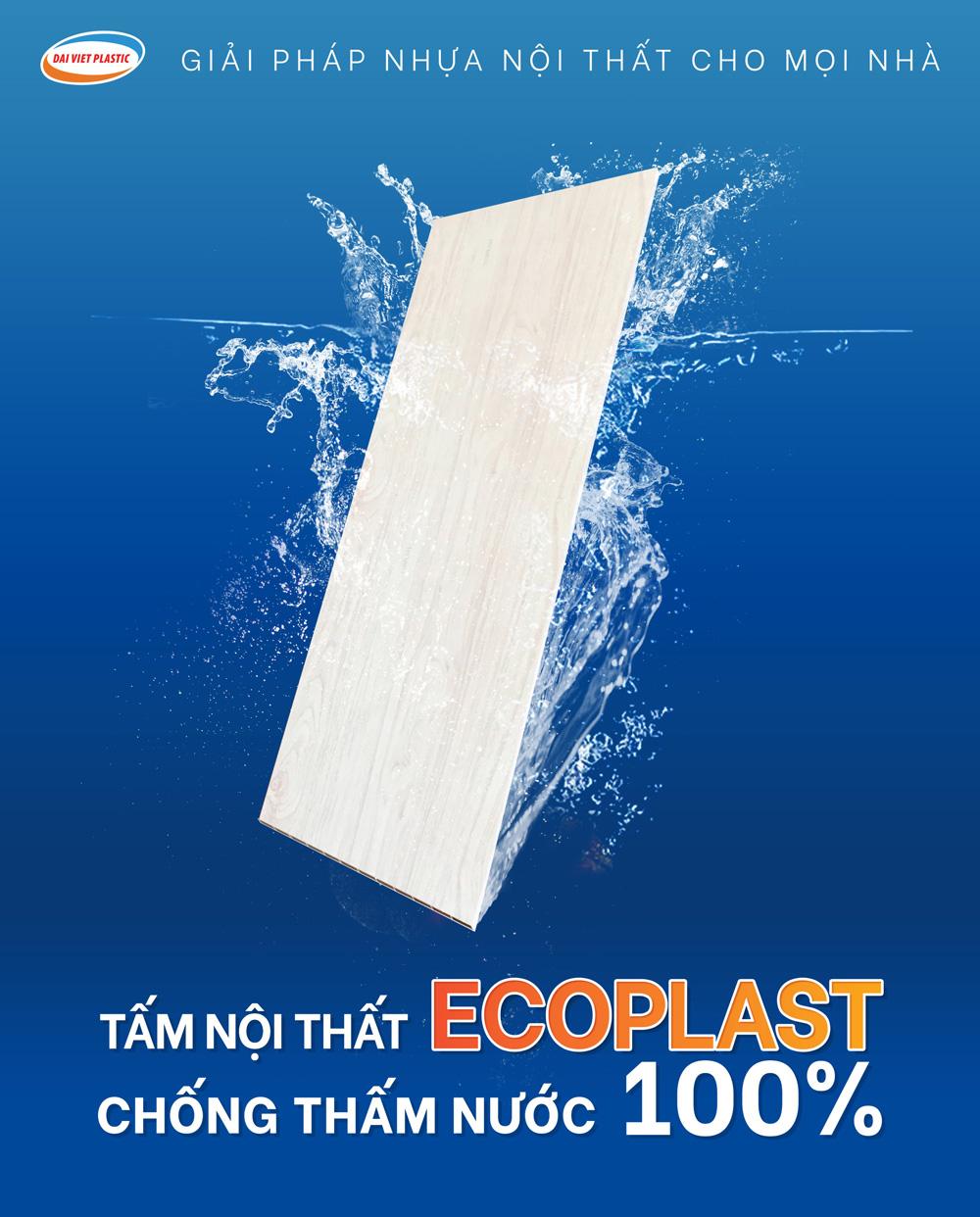 Tấm Ecoplast chống thấm nước 100%