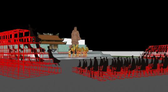 Mẫu mô hình lắp ghép modul sử dụng trong Lễ hội